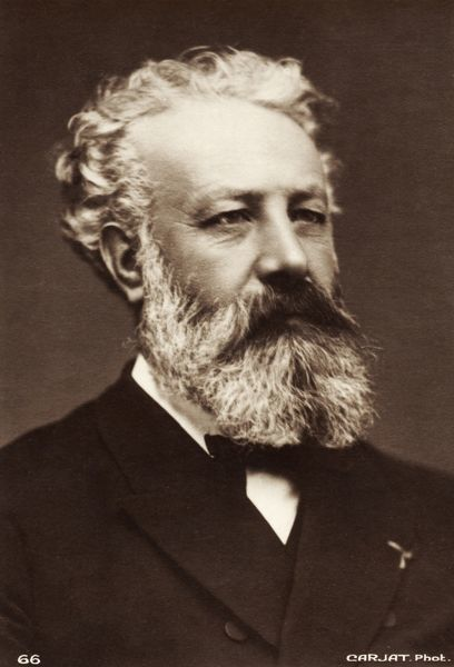 Jules Verne - Portrait. French writer. 1828-1905. Author of 'Eighty days around the world', 'Journey to the centre of the earth' and '20, 000 leagues under the sea&#39