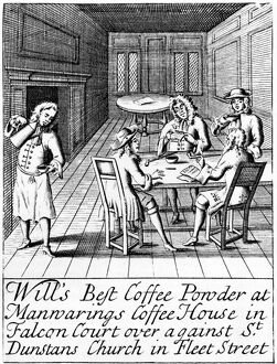 Advertisement for London Coffee House, c. 1700