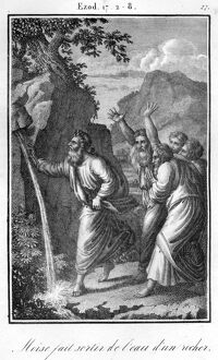 Bible Moses striking the