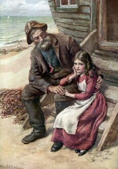 Charles Dickens 's novel 'David Copperfield' - Peggotty and Little Em'ly