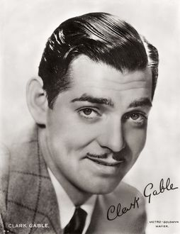Clark Gable, signed portrait. American film actor