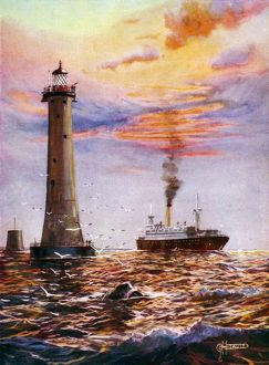 Eddystone Lighthouse near Plymouth
