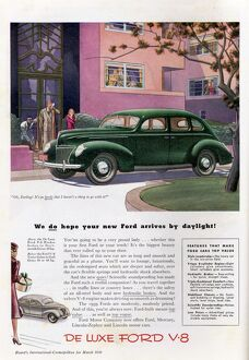 Ford Motor Company - advertisement for the Ford V-8 Sedan