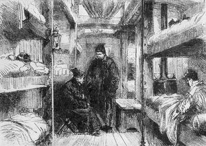 Interior of a hospital train