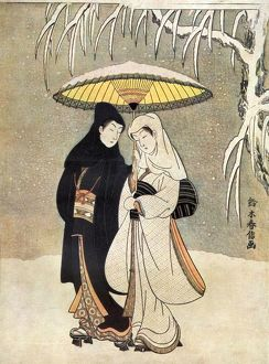Japanese couple in kimonos