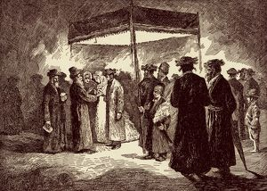 Jewish marriage scene