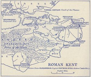 Map of Roman Kent