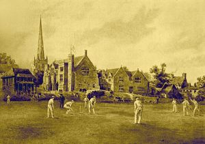 Repton School from the Cricket Field