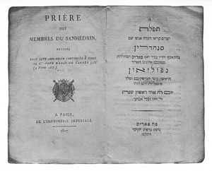 Sanhedrin convened by Napoleon 1807 - prayer