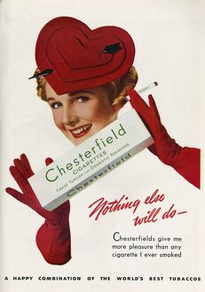 Stylish Chesterfield advert with