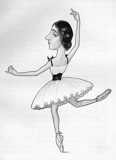 Tamara Karsavina caricature by